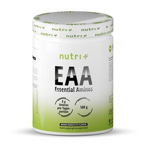Aminosäure-Pulver Vegan 500g EAA - HÖCHSTE DOSIERUNG - alle essentiellen Aminos - Instant EAAs Powder - Essential amino acids - Mango-Maracuja Geschmack