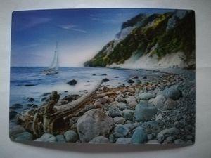 3 D Ansichtskarte Insel Rügen, Kieselstrand, Ostsee Strand Postkarte Wackelkarte Hologrammkarte