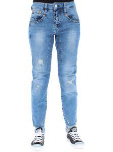 Herrlicher Damen Jeans Shyra Cropped, Farbe:blau, Herrlicher Jeans:W25