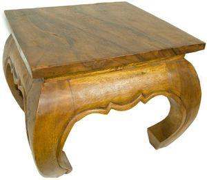 Opiumtisch Tsch Teetisch Holz Massiv Asien Möbel China 50X50 Cm Hb