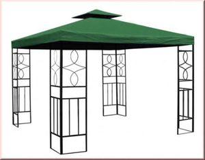 Pavillon Partyzelt Festzelt 3x3m Party WASSERDICHT grün