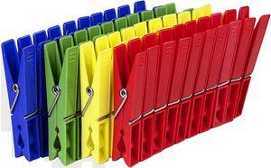 Wäscheklammern Klammern Wäscheklammer Kunststoff farbig (50 STK)