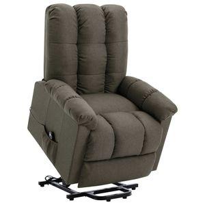 Sessel mit Aufstehhilfe Taupe Stoff