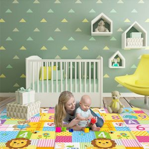 Kinder Krabbelmatte Spielmatte Cartoon Babymatte Krabbeldecke Faltbar Teppich 100*180cm