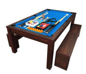 Billardtisch Billard Blaumen 7 FT Billard-Spiel und Containerbänke mit Tischplatte NEUE