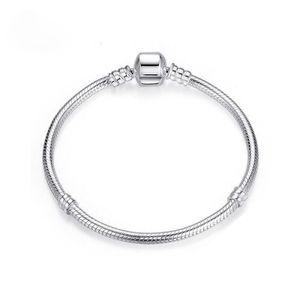 PANDACHARMS Damen Armband für Charms in 925 Silber, passt zu Pandora Moments, Länge 19cm