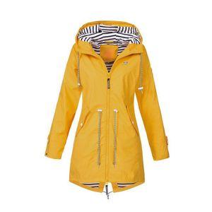 Winddichte Frau Wasserdichte Skijacke Winddichte Regenjacke Winter Warmer Kapuzenmantel Sport Farbe gelb M