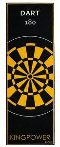Dart Teppich Target Oche Matte Steeldart Dartpfeile Dartboard Zubehör Dartteppich Darts Abwurflinie Schutz Gummi Boden Dartscheibe Gelb 237 x 80 cm Kingpower