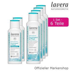 6tlg. lavera basis sensitiv Feuchtigkeit & Pflege Shampoo Spülung Haarpflege Set