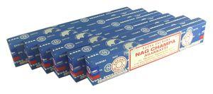 Nag Champa Sai Baba Agarbatti Räucherstäbchen blau Räucherwerk 6 Packs a 15g