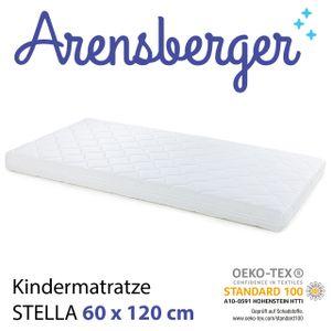 Arensberger Kindermatratze STELLA, abnehmbarer Bezug, punktelastischer Komfortschaum, wendbar, RG 25 kg/m³, Größe:60cm x 120cm
