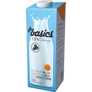 my basics - Haltbare fettarme Milch 1,5% Fett - mit Light Cap - 1Liter