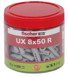 FISCHER Universaldübel UX 8x50 R (75 Stk)