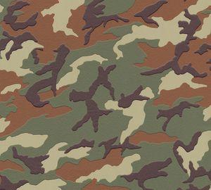 A.S. Création Camouflage Tapete Boys & Girls Vliestapete grün braun 10,05 m x 0,53 m
