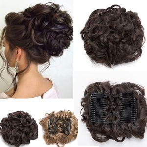 S-noilite Haar Extensions Haarteil Dutt Haarverlängerung Haargummi Hochsteckfrisuren Donut wie Echthaar
