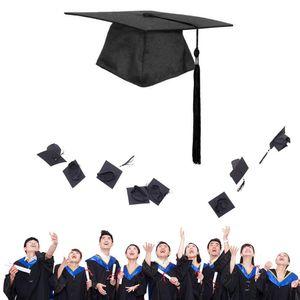 Bachelor Hut schwarze Spitze (Pappe) verstellbare Bachelor Hut Abschlusskappe