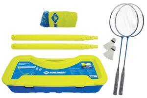 Schildkröt Badminton-Set Compact, inklusive Netz, 2 Schläger und 2 Bälle, im praktischen Kunststoffkoffer