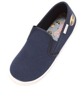 Kinder Sneaker Slipper Uni Freizeitschuhe Schuhe Halbschuhe emoji Smiley blau, Schuhgröße:EUR 31