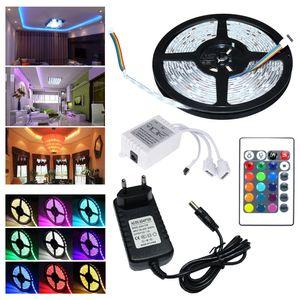 Hengda 3M LED Streifen set , RGB LED Stripe 5050 SMD, LED Strip 30 LEDs, LED Band Wasserdicht(IP65), mit 24 Tasten Fernbedienung