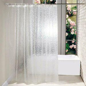 180*180cm Transparent 3D Duschvorhang Badevorhang Bad Dusche Vorhang Wasser Durchsichtiger Badewannenvorhang
