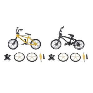 2Stk. Finger Mountain Bike Mountainbike Modell Fahrrad Spielzeug für Kinder