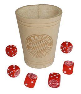 Knobelbecher Würfelbecher + 6 Würfel Fc Bayern München Fcb
