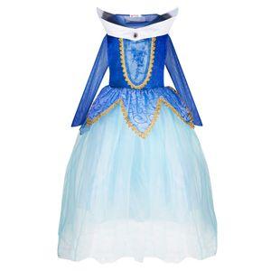 Aurora Kleid blau 128/134 (Etikett 140)