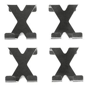 4x Garderobenhaken aus Edelstahl Türhaken Türgarderobe Türgarderobenhaken