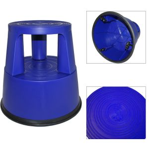 Tritthocker Rolltritt Rollhocker Elefantenfuß Kunststoff Blau K4 XXXL