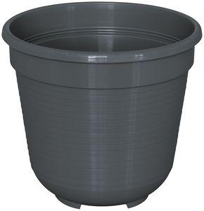 Pflanzkübel BLUMENTOPF STANDARD rund aus Kunststoff, Farbe:anthrazit, Durchmesser:18 cm
