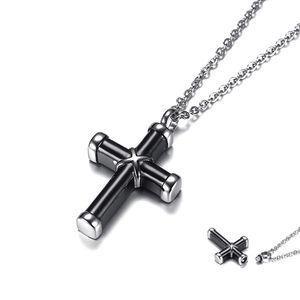 Kreuz Gedenkanhänger Asche Anhänger Kette zum Befüllen