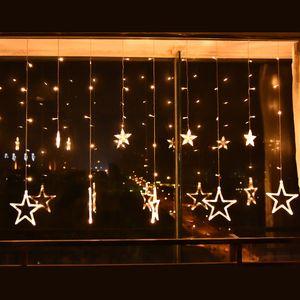 LED Weihnachtsbeleuchtung beleuchtung Lichtervorhang Lichternetz Party Beleuchtung Lichterkette Deko Weihnachten sterne