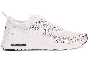 NIKE WMNS Air Max Thea Print Damen Sneaker Weiß 599408 103, Größenauswahl:38