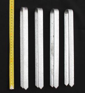 4 Stück Bodenanker für Rosenbogen 30 cm verzinkt Erdspieß Bodenspieß Befestigung
