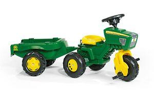 rolly toys Trac John Deere Traktor mit Soundlenkrad und Anhänger, Maße: 109x47x56 cm; 05 276 9