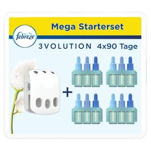 Febreze 3Volution Starter-Set Duftstecker & 4 x Flacon Reine Frische je 20ml