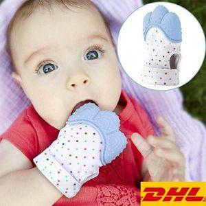 Miixia 2X Baby Beißhandschuh Beißring Knisternde Handschuh Lebensmittelqualität