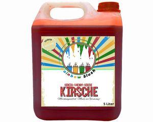 Rainbow Slush Sirup AZO FREI | Geschmack Kirsche  | Konzentrat für Slushy Maker Eis Slushmaschinen Eismaschinen Getränke 1:5