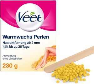 Veet Warmwachs-Perlen Haarentfernung Wachs Waxing Enthaarung glatte Haut 230g