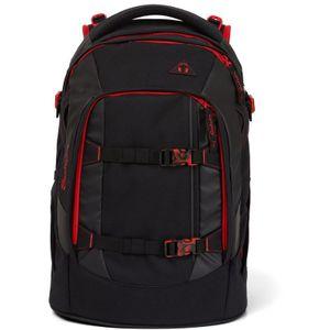 Satch Schulrucksack, Fire Phantom, Farbe/Muster: black, red