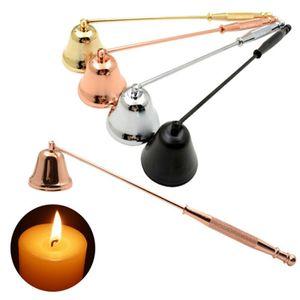 1 Stk Edelstahl Kerzenlöscher Kerzenlöscher-Werkzeug Dochtlöscher Glocke Kerzenschneider 20*3.8cm Schwarz