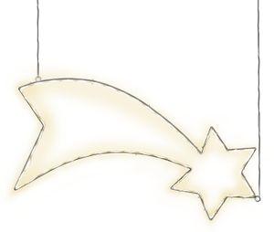 STAR Trading LED-Silhouette ''Lumiwall'' Komet/Sternschnuppe außen