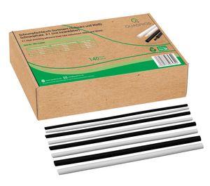 Schrumpfschlauch Set Sortiment 140 St 3:1 Schwarz Weiß Innenkleber 20 cm