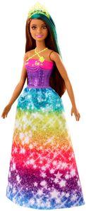 Barbie Dreamtopia Prinzessin Puppe (brünett und türkisfarbenes Haar), Anziehpuppe