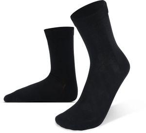 6 Bambus-Socken mit extra weichem Komfortbund - Schwarz - 47-50