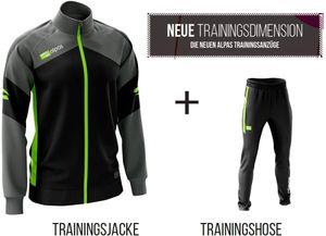 alpas Trainingsanzug  Dynamic Neongelb Gr. M Sportanzug Jogginganzug