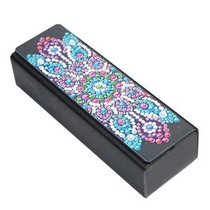 Creative Diamond Painting Brillenetui 5D Flower Sunglasses Box