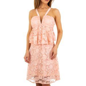 Ital-Design Damen Kleider Cocktail- & Partykleider Rosa Gr.s