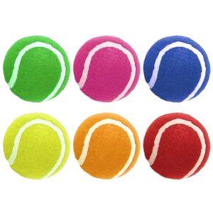 Ruff N Tumble Tennisbälle, 6er-Pack BT1163 (6er-Packung) (Mehrfarbig)