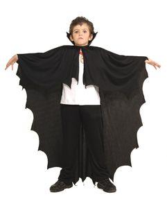 Dracula Kinderumhang Schwarz für Halloween & Fasching